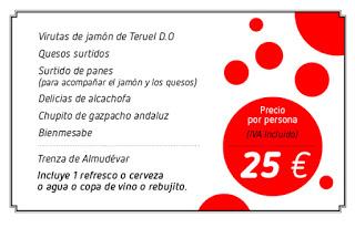 Cena especial por la Feria de Abril (jueves, 4)