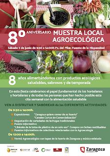 Fiesta del octavo aniversario del mercado agroecológico (sábado, 3)