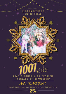 """Menú especial """"1001 Noches"""" (jueves, 1)"""