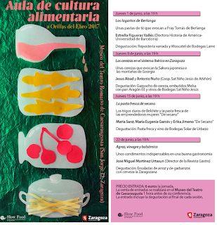 """Aula de Cultura Alimentaria """"A orillas del Ebro"""" (jueves de junio)"""
