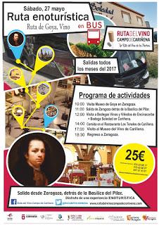 Excursión Ruta del Vino Campo de Cariñena (sábado, 27)