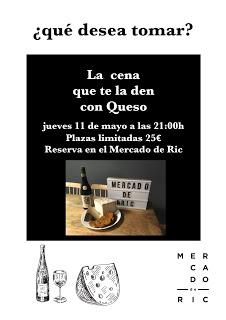 Cata maridada con queso en el MERCADO DE RIC (jueves, 11)