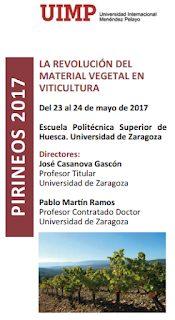 """HUESCA. Curso: """"La revolución del material vegetal en vinicultura"""" (martes y miércoles, 23 y 24)"""