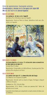 """Ciclo de conferencias """"Cocinando culturas"""" (del martes, 16, al jueves, 18)"""