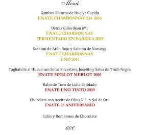 Cena cata maridaje en LOS CABEZUDOS con ENATE (miércoles, 17)