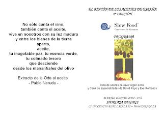 VI edición del Rincón de los Aceites de España (martes, 16)