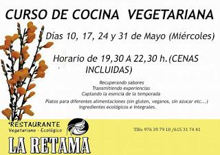 Curso de cocina vegetariana (miércoles, 10, 17, 24 y 31 de mayo)