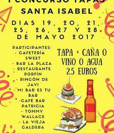 I Concurso de Tapas Santa Isabel (del 19 al 21 y del 25 a 28 de mayo)