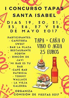 I Concurso de tapas Santa Isabel (del 19 al 28)