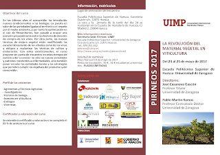 HUESCA Curso, La revolución del material vegetal en viticultura (martes y miércoles, 23 y 24)