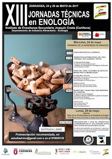 XIII Jornadas técnicas de Enología (miércoles, 24)