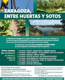 """Visitas guiadas """"Zaragoza, entre huertas y sotos"""" (domingos de junio)"""