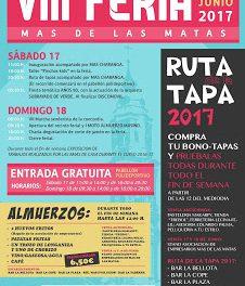MAS DE LAS MATAS. VIII Feria popular (17 y 18)