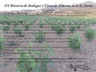 ALMONACID DE LA SIERRA. Muestra de bodegas (del 10 al 12)