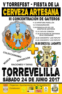 TORREVELILLA. V Torrefest, fiesta de la cerveza artesana (sábado, 24)
