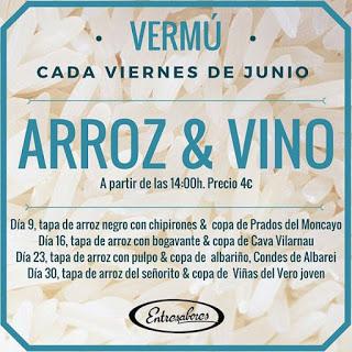 """Vermú especial """"Arroz & Vino"""" (viernes de junio)"""