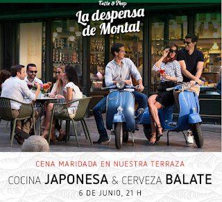 Cena maridada de cocina japonesa y cerveza Balate (martes, 6)