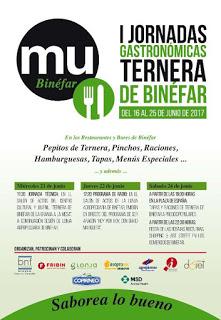 BINÉFAR. I Jornadas gastronómicas de la ternera (del 16 al 25 de junio)