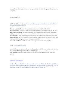 Jornada, Innovación en el sector de la agroalimentación: presentación de la oferta tecnológica del IA2 (miércoles, 21)