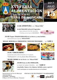 VERA DE MONCAYO. Feria de la alimentación tradicional (sábado, 15)