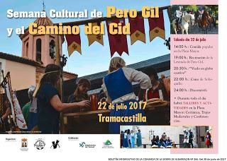 TRAMACASTILLA. Semana Cultural de Pero Gil y el Camino del Cid (sábado, 22)