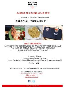 Curso de cocina especial verano (jueves, 27)
