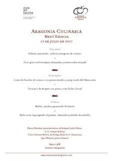 II Experiencia Culinaria en Aragonia (jueves, 13)