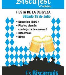 BISCARRUÉS. Fiesta de la cerveza (sábado, 15)