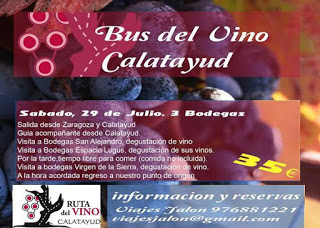 Bus del vino Calatayud (sábado, 29)