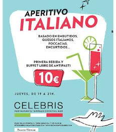 Aperitivo italiano en CELEBRIS (jueves, hasta final de agosto)