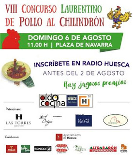 HUESCA. Concurso de pollo al chilindrón (domingo, 6)