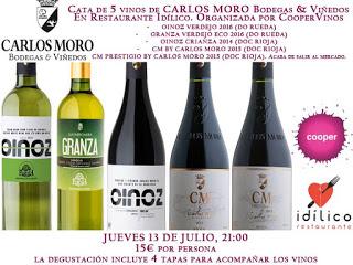 Cata de vinos y tapas (jueves, 13)