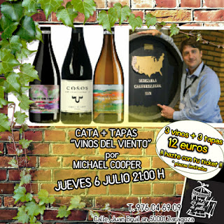 Cata de vinos y tapas (jueves, 6)
