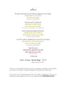 Cata maridaje en LOS CABEZUDOS (jueves, 20)