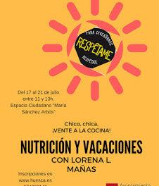 HUESCA. Taller de nutrición para jóvenes (del 17 al 21)