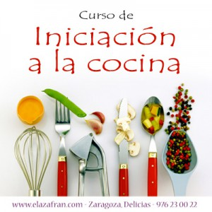 Curso de iniciación a la cocina en AZAFRÁN (viernes de septiembre a diciembre)