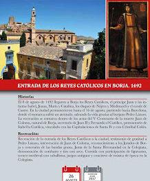 BORJA. Recreación de la entrada de los Reyes Católicos (sábado, 26)
