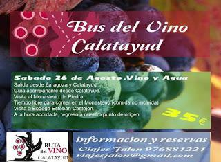 ZARAGOZA / CALATAYUD. Excursión del Bus del vino Calatayud (sábado, 26)