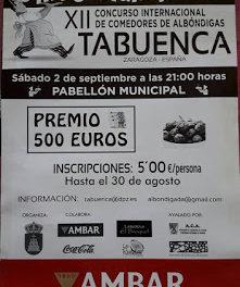 TABUENCA. XII Concurso Internacional de comedores de albóndigas (sábado, 2)