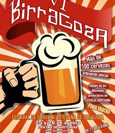 Birragoza, Festival de la cerveza artesana de Zaragoza (días 25 y 26, viernes y sábado)