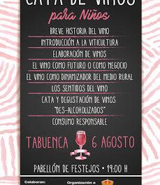 TABUENCA. Cata de vino para niños (domingo, 6)