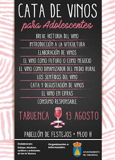 TABUENCA. Cata de vino para adolescentes (domingo, 13)