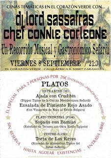 Recorrido musical y gastronómico sefardí (viernes, 8)