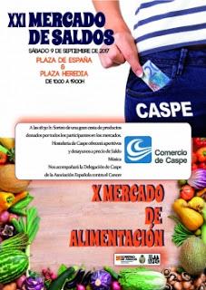 CASPE. XXI Mercado de Saldos y X Mercado de Alimentación (sábado, 9)