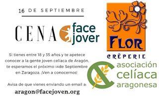 """Cena """"Face Joven"""" para celiacos (sábado, 16)"""