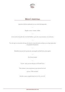 Nuevo Menú Festival en ARAGONIA PALAFOX (hasta finales de otoño)