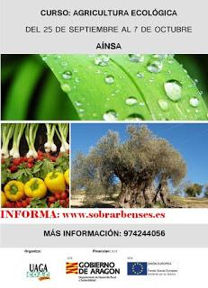 AÍNSA. Curso de agricultura ecológica (del 25 al 7)