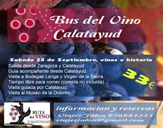ZARAGOZA / CALATAYUD. Bus del vino Calatayud (sábado, 23)