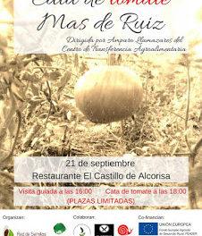 ALCORISA. Cata  tomate Mas de Ruiz (jueves, 21)