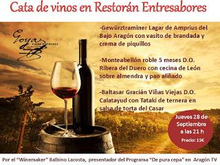 Cata de vino y picoteo (jueves, 28)